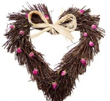 Rose Twig Heart (3 sizes available)